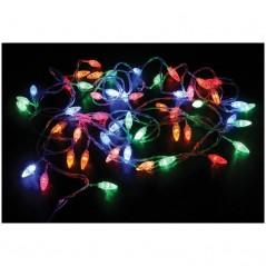 Электрогилянда светодиодная 50 ламп, 4 цвета, 8 режимов, 6,5 м