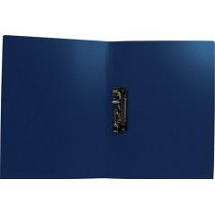 Папка с прижимом цвет синий