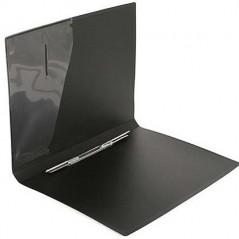 Папка скоросшиватель с карманом пластиковая 0.50 мм. А4. черная