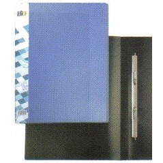 Папка с пружинным скоросшивателем пластиковый 0,50 мм  цвет синий