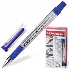Ручка гелевая Reporter. Синяя. Толщина 0,5. Erich Krause