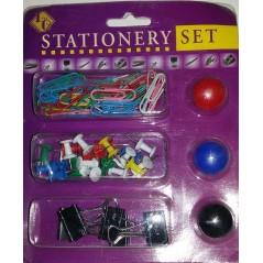 Набор скрепки, цв магниты, зажимы и кнопки силовые