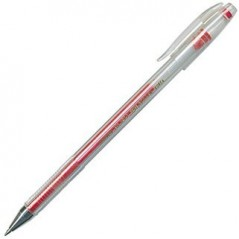 Ручка гелевая, красная. Толщина 0,5. Crown HJR-500  Корея