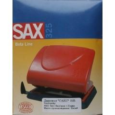 Дырокол Sax 325 до 25 листов синий с линейкой
