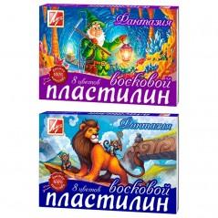 """Пластилин """"Фантазия"""" Луч 08 цветов, 140гр., восковой, со стеком, картон"""