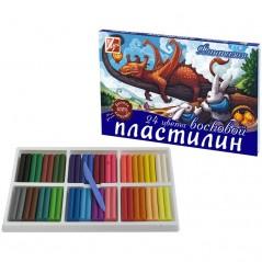 """Пластилин """"Фантазия"""" Луч 24 цвета, 420гр., восковой, со стеком, картон"""