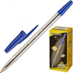 Ручка шариковая Corvina синяя.