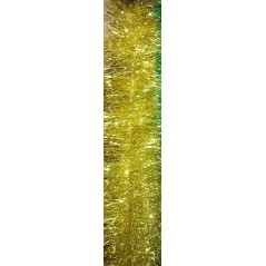 Мишура 3 метра , цвет золотой  объём 15см