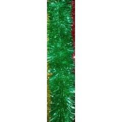 Мишура 3 метра , цвет зелёный  объём 15см