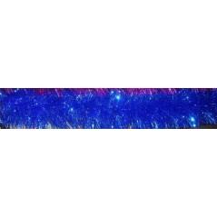 Мишура 3 метра , цвет синий  объём 15см