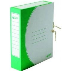 Папка архивная с завязками, 50 мм, картон цвет зеленый.