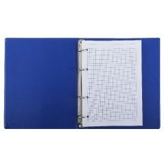 Тетрадь блочная синяя пластик. с 2-я блоками. А-5