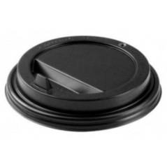 Крышка черная закрытая с питейником, d-80 мм. для бумажного стакана.