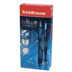 Ручка шариковая . Erich Krause Megapolis Concept 0.7 мм. синяя.