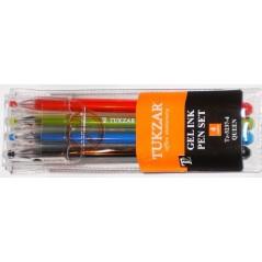Ручка гелевая (набор) 4цв. Tukzar