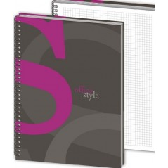 Бизнес-тетрадь Color style А5 120 листов, в клетку на спирали