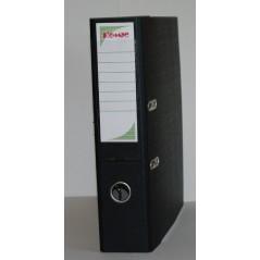 Папка регистратор с арочным механизмом  75 мм ламинат черного цвета
