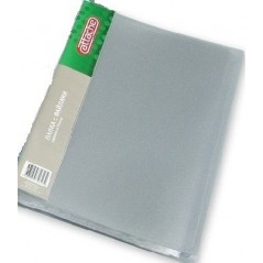 Папка с файлами А-4 100 листов attache серая