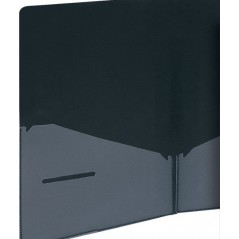 Папка уголок, 2 кармана, черный, ф.-А4