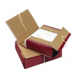 Папка архивная c 4 завязками Attache A4 (12 см, крафт/бумвинил)