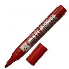 Маркер перманентный, цвет красный, Multi marker , Корея